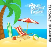 sea shore beach view. summer... | Shutterstock .eps vector #276937652