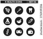 9 application medical icons set.... | Shutterstock .eps vector #276939206