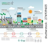 green ecology city infographics ... | Shutterstock .eps vector #276939605