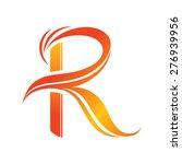 vector logo r letter | Shutterstock .eps vector #276939956