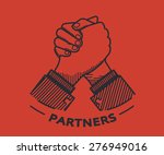business partner agreed a deal... | Shutterstock .eps vector #276949016