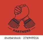 business partner agreed a deal... | Shutterstock .eps vector #276949016