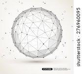 wireframe mesh polygonal... | Shutterstock .eps vector #276960095