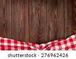 Kitchen Table With Red Towel....