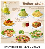 set of food icons. italian... | Shutterstock .eps vector #276968606