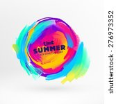 bright color paint stains for... | Shutterstock .eps vector #276973352