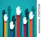 voting rising hands vector... | Shutterstock .eps vector #276975296