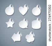 vector blank white wobbler... | Shutterstock .eps vector #276975302