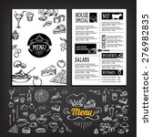 restaurant cafe menu  template... | Shutterstock .eps vector #276982835