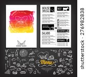 food menu  restaurant template... | Shutterstock .eps vector #276982838