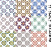 set of geometric patterns | Shutterstock .eps vector #276983432