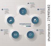 5 steps order in circle shape... | Shutterstock .eps vector #276985682