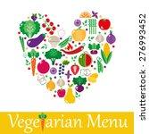 vegetarian menus of restaurants ... | Shutterstock .eps vector #276993452
