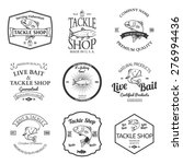 tackle and bait shop label... | Shutterstock .eps vector #276994436