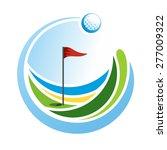 round golf emblem with a ball...   Shutterstock .eps vector #277009322