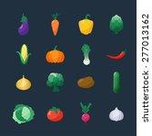 vector icons vegetables flat...   Shutterstock .eps vector #277013162