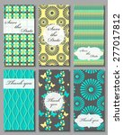 vintage vector card templates.... | Shutterstock .eps vector #277017812