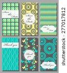 vintage vector card templates.... | Shutterstock .eps vector #277017812