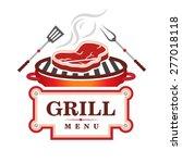 grill menu design | Shutterstock .eps vector #277018118