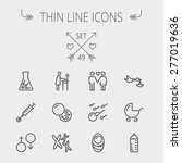 medicine thin line icon set for ... | Shutterstock .eps vector #277019636