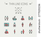 medicine thin line icon set for ... | Shutterstock .eps vector #277020236