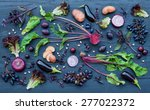collection of fresh purple... | Shutterstock . vector #277022372