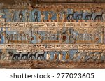 hieroglyphic carvings and...   Shutterstock . vector #277023605