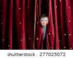 young boy wearing clown make up ... | Shutterstock . vector #277025072
