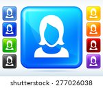 woman with short hair on color...   Shutterstock .eps vector #277026038