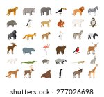 big collection of  wild animals | Shutterstock .eps vector #277026698
