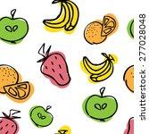 seamless pattern of fruit....   Shutterstock .eps vector #277028048