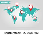 earth marked on the map vector... | Shutterstock .eps vector #277031702