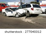 car accident with damaged... | Shutterstock . vector #277040312
