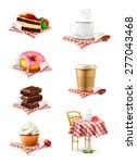 street cafe  chocolate  cupcake ... | Shutterstock .eps vector #277043468