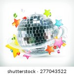party  stars and disco ball ...