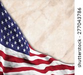 flag of usa  shifted to show... | Shutterstock . vector #277043786