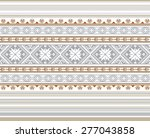 set of ethnic ornament pattern... | Shutterstock .eps vector #277043858
