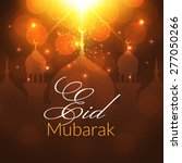 eid mubarak greeting card with... | Shutterstock .eps vector #277050266