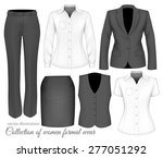 formal wear for women. vector...