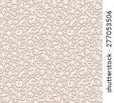 vintage beige vector background ... | Shutterstock .eps vector #277053506