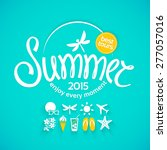 colorful lettering summer and... | Shutterstock .eps vector #277057016