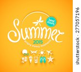 colorful lettering summer and... | Shutterstock .eps vector #277057196