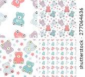 vector seamless pattern of a... | Shutterstock .eps vector #277064636