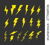 set of yellow thunderbolt... | Shutterstock .eps vector #277068536