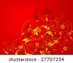 abstract floral illustration.... | Shutterstock .eps vector #27707254