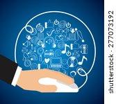 electronic commerce design ... | Shutterstock .eps vector #277073192