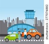 airplane travel design  vector... | Shutterstock .eps vector #277076882