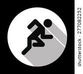 running man icon | Shutterstock .eps vector #277082252