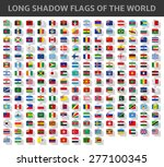 long shadow flags of the world | Shutterstock .eps vector #277100345