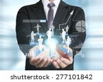 businessman with financial... | Shutterstock . vector #277101842